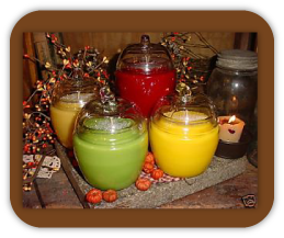 Apple Shaped Jar Candles