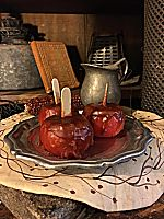 Little Wax Scented Candied Apples on a Stick-