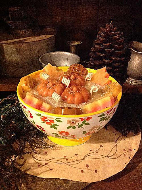 Pumpkin Pecan Waffle Cone Candle Pioneer Woman Bowl-