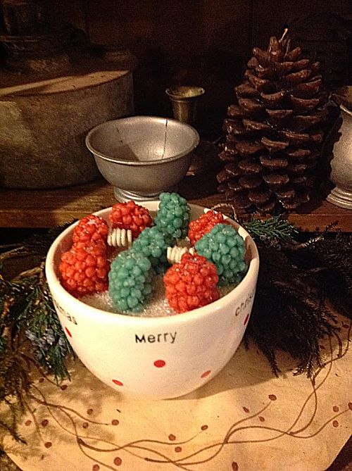 Strawberry Spruce Small Christmas Bowl-